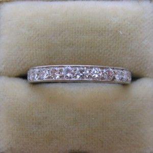 Diamond eternity engagement ring