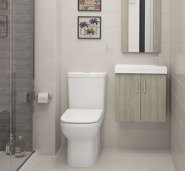 Modular Silver Elm - The minimalist look that Silver Elm can achieve is perfect for modular furniture and can bring a calm and relaxed ambiance to a smaller bathroom.