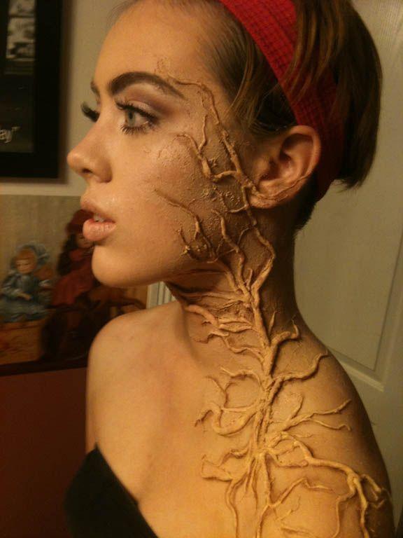 Weird make-up 1/ growing tree | Stage Makeup | Pinterest