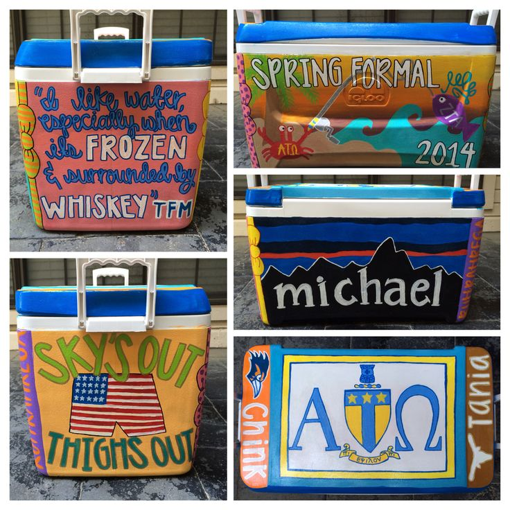 Painted fraternity cooler frat ATO zta tfm