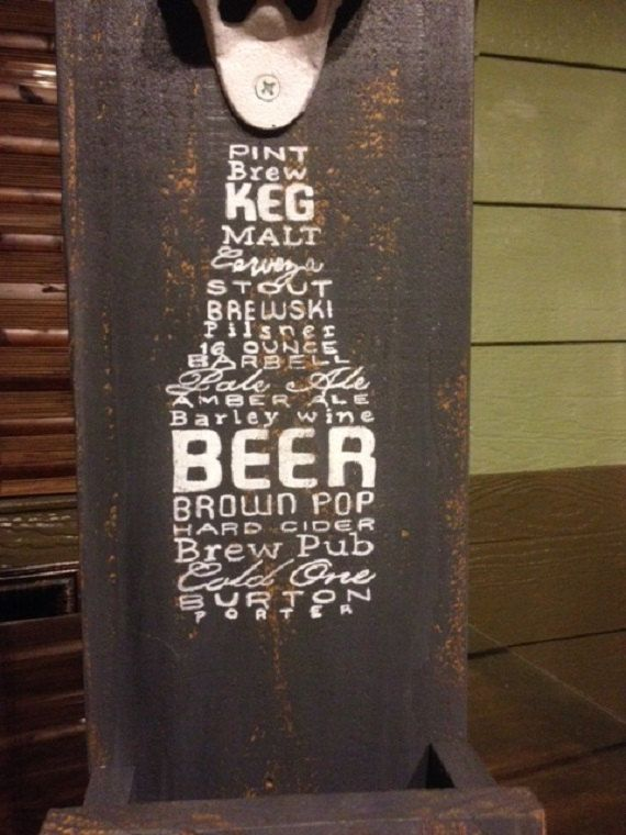 BEER Father's Day Bottle Opener Wall Mount