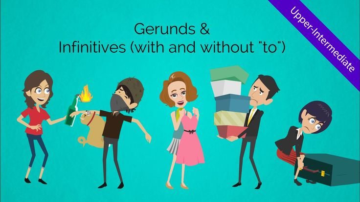 This creative & engaging animated ESL video teaches learners about gerunds and infinitives (verbs) at the upper-intermediate level. Use this in class and have a blast!