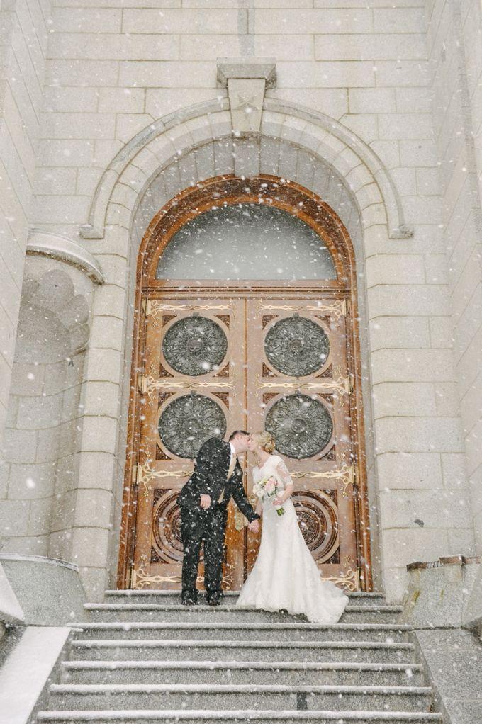 Salt Lake Temple winter wedding photos… just in case!