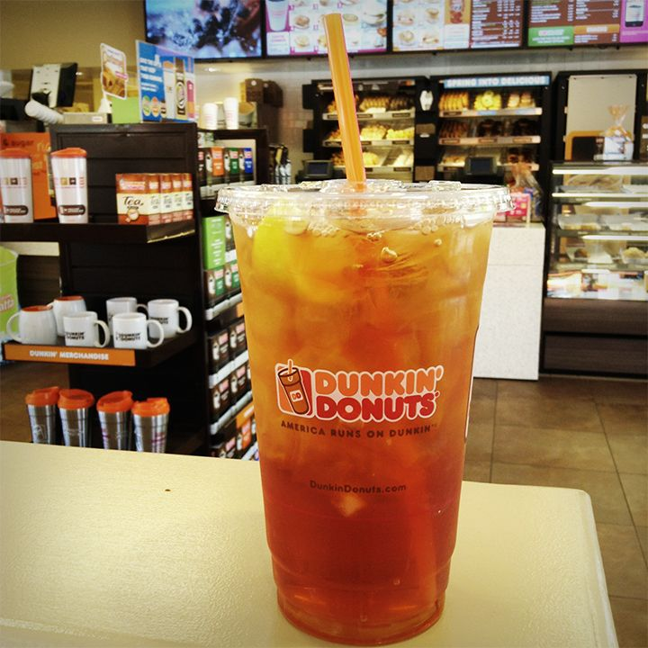 Dunkin donuts iced tea is freshly brewed and ready to go