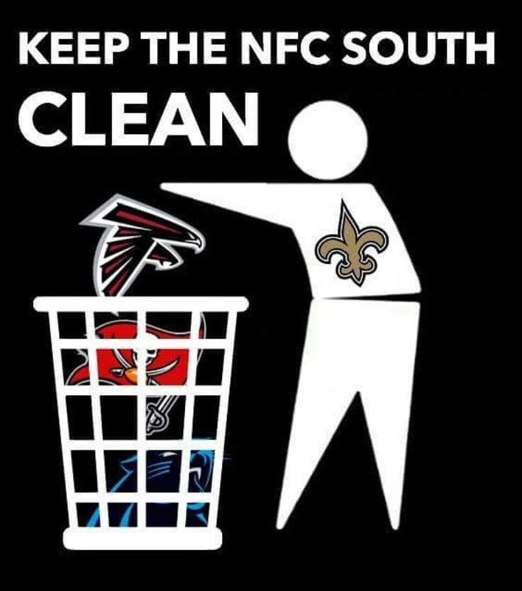 Keeping the NFC South clean and staying number one ☝️ ⚜️
