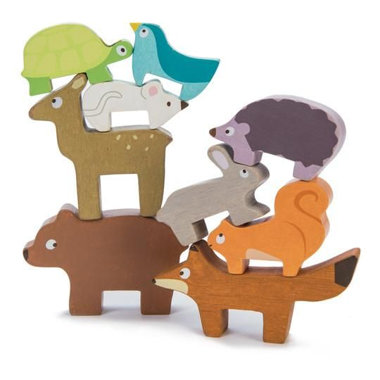 Seriously cute Forest Animal Stacker via Send A Toy