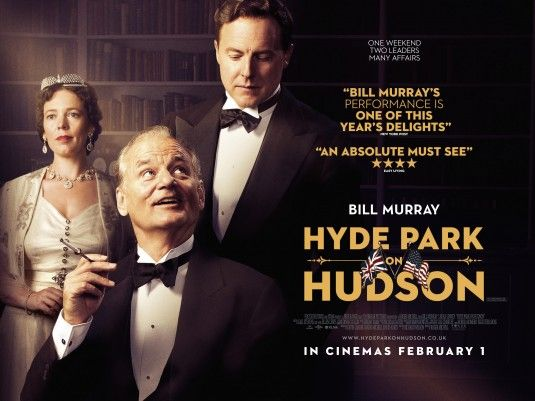 Hyde Park on Hudson stars Bill Murray as FDR. An interesting look into the longest serving President`s private life.
