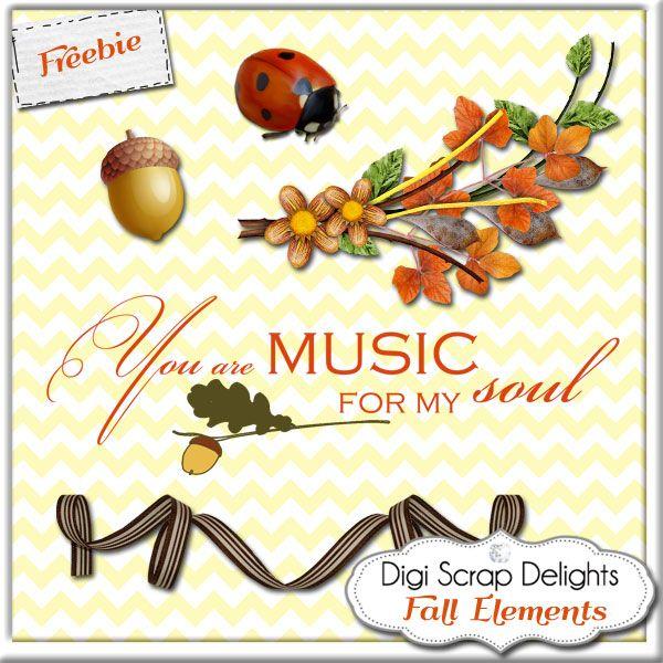 Digital Scrapbooking Freebies Autumn Fall Elements