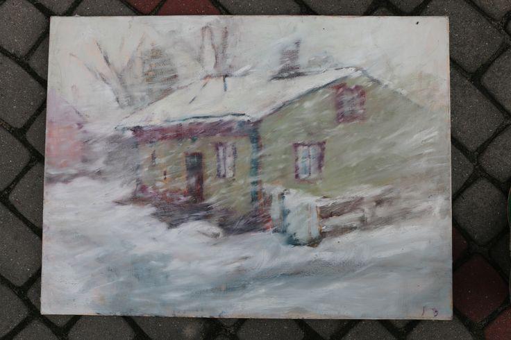 Zima, obraz olejny na płótnie Anna Michałowska