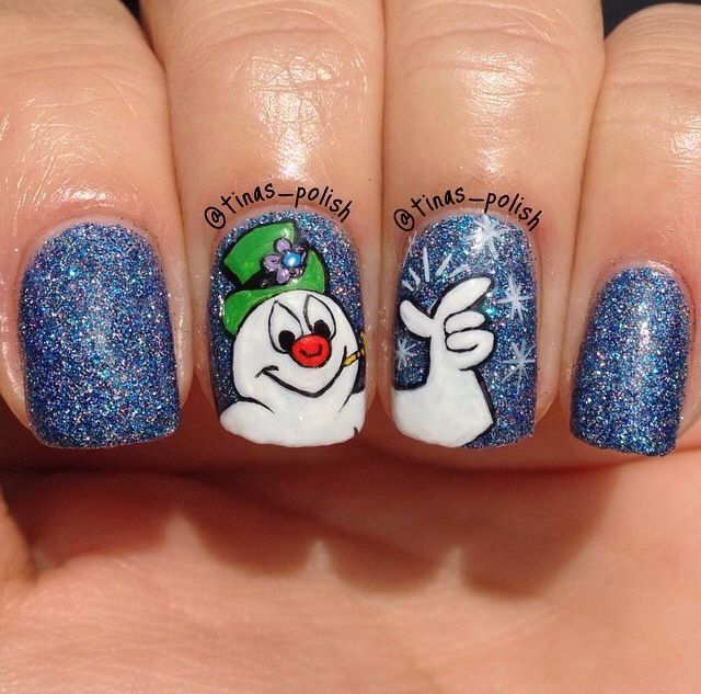 Frosty the snowman nails