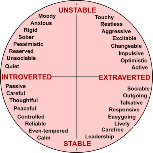 introvert-vs-extrovert  unstable/stable