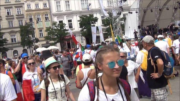 ŚDM Światowe Dni Młodzieży Kraków - Dzień 1 - wtorek 26.07.2016 - Rynek,...