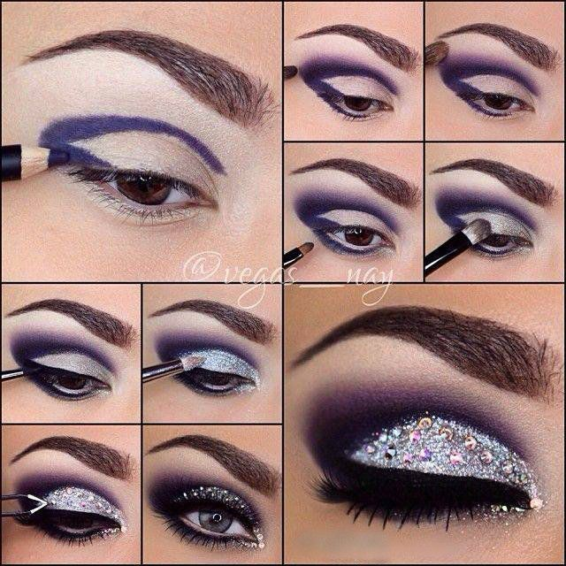 Beautiful Sparkly Purple Eyeshadow Tutorial