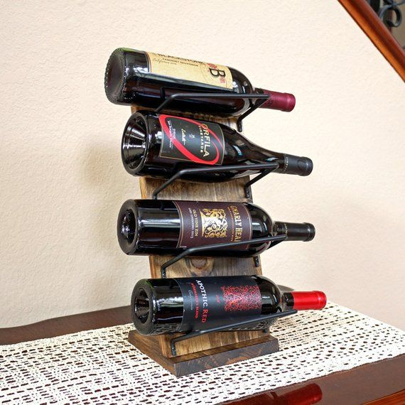 Countertop Wine Rack Tabletop Wine Rack Display Unique Wood