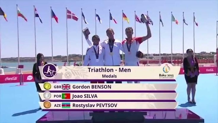 Relive the moment when Gordon Benson became the first European Gold Medalist in the Mens Triathlon