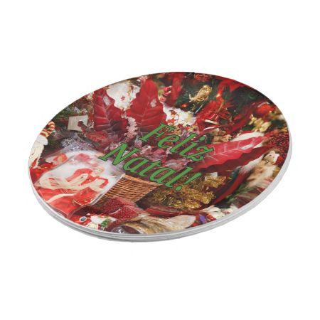 Feliz Natal! Merry Christmas in Portuguese gf 7 Inch Paper Plate