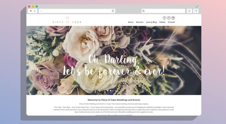 Piece of Cake Wedding and Event planning | KNOWN DESIGN CO  #website #design #webdev #Wordpress #bespoke #knowndesignco #Web