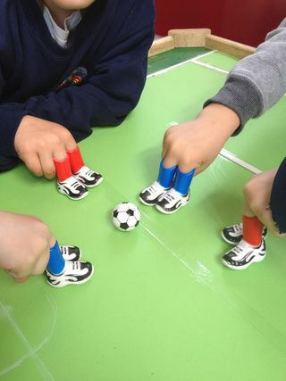must try this, and find the footballer fingers! Fine motor skills