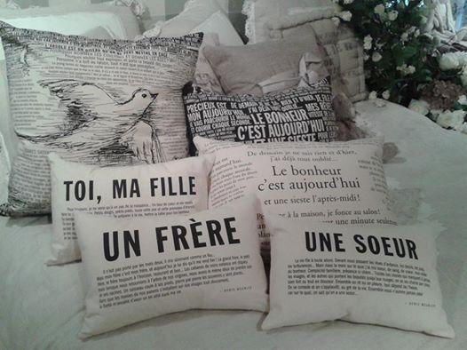 Coussin meunier, décoration, citation, cadeau, plusieurs thèmes, Le Jardin d'Andrée-Anne, www.lejardin.ca