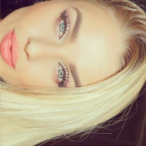 real life barbie much? but she has nice eyebrows.