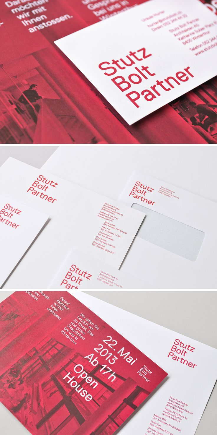 Corporate design for Swiss architects Stutz Bolt Partner #identity #businesscards
