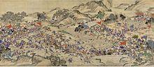 Una pintura del siglo XIX que muestra la rebelión Taiping (1850–1864).