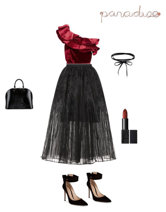 """Paradise"" by francystyling78 on Polyvore featuring moda, Johanna Ortiz, Elie Saab, Gianvito Rossi, Louis Vuitton e Umbra"