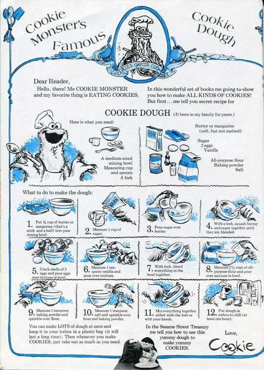 Cookie Monster's Famous Sugar Cookie Dough Recipe