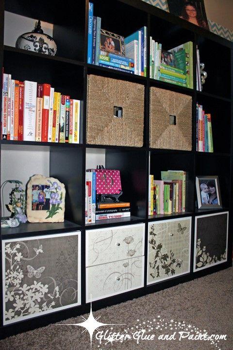 How to spice up an IKEA Expedit #IKEA #shelves  @glitterglueandpaint.com