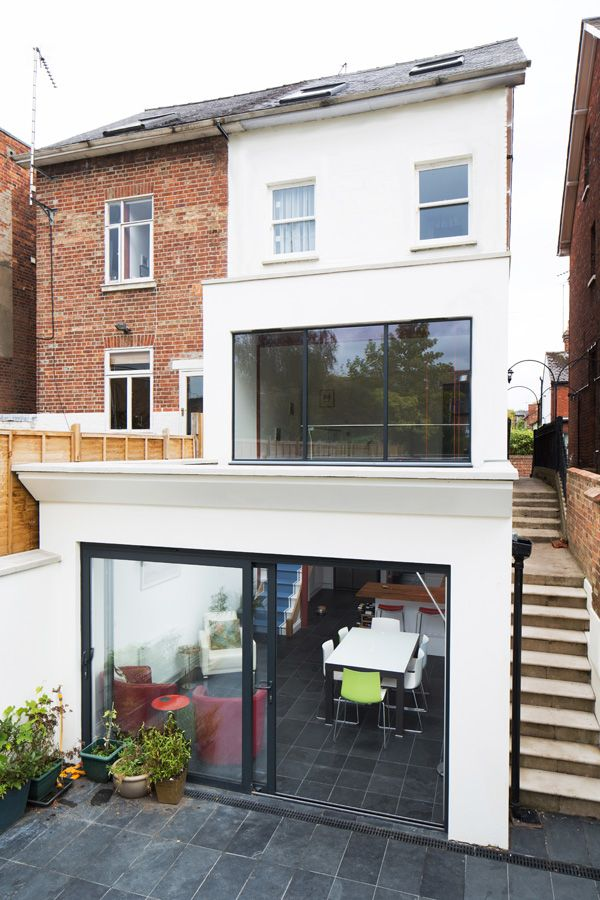Lovely Basement Extension Ideas Part - 8: Double Storey Glazed Extension In Oxford By Holland And Green.