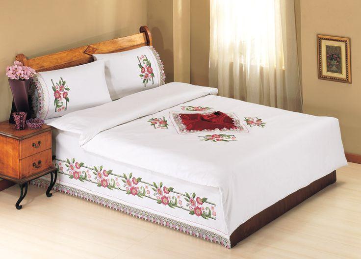 Kanaviçe Yatak Takımları Modelleri Canim Anne http://www.canimanne.com/kanavice-yatak-takimlari-modelleri.html
