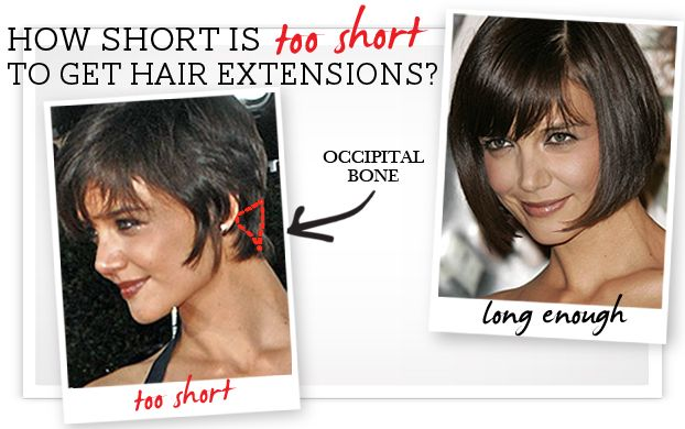 How long does your hair have to be for hair extensions using how long does your hair have to be for hair extensions using katie holmes short hair as a guide hair extension tips pinterest katie holmes pmusecretfo Image collections
