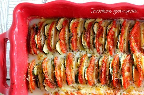 Tian de pommes de terre, courgettes, tomates et mozzarella - invitationsgourmandes.fr