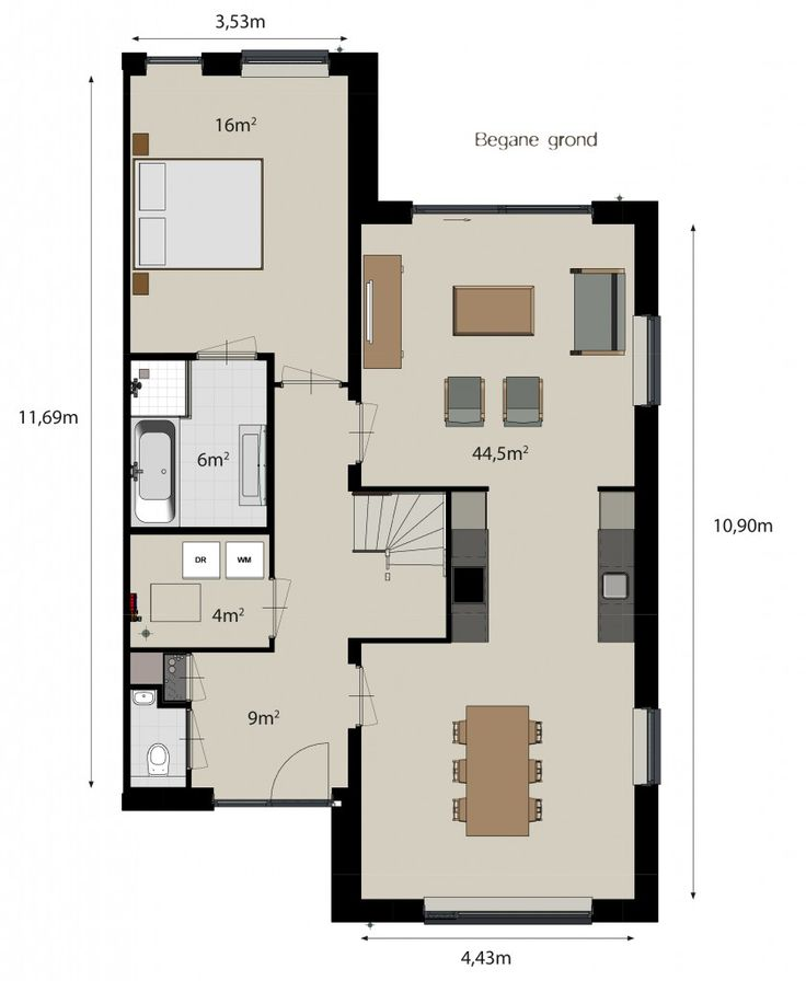 Meer dan 1000 idee n over keuken plattegronden op pinterest open keukens keuken opstellingen - Keukenplan op de eetkamer geopend ...