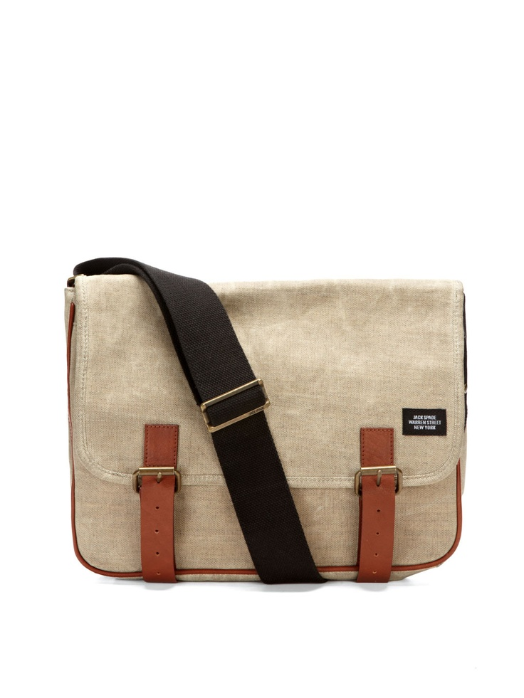 Waxed linen messenger bag by Jack Spade on Park & Bond