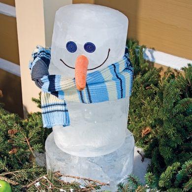 """Décoration de Noêl à manger!  Raper, ajouter un peu de sirop et vous avez un délicieux """"Snow cone"""" !"""