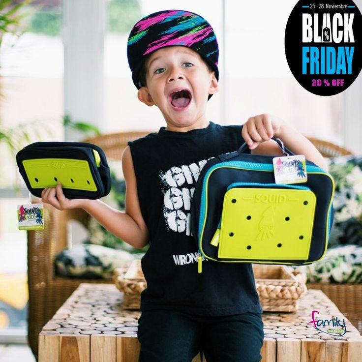 #Blackdays Loncheras para grandes y chicos, puedes personalizarlas con nuestros divertidos botones/charms decorativos, llévala el colegio, la U, a la oficina o de viaje. Hasta el 28 de noviembre.
