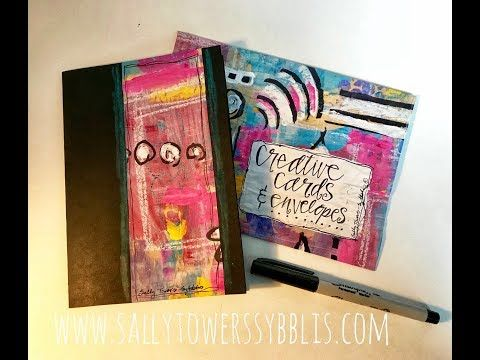 Hand Painted Card And Envelope - YouTube
