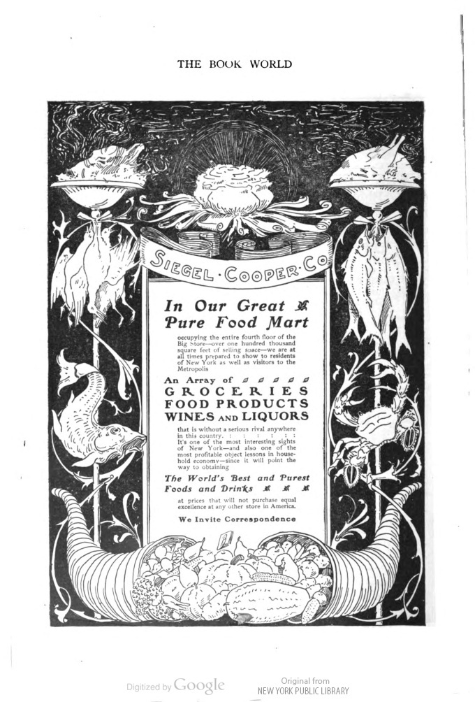 The Worlds Best And Purest Foods And Drinks Siegel Cooper Co In Book Notes V This Book Is In The Public Domain