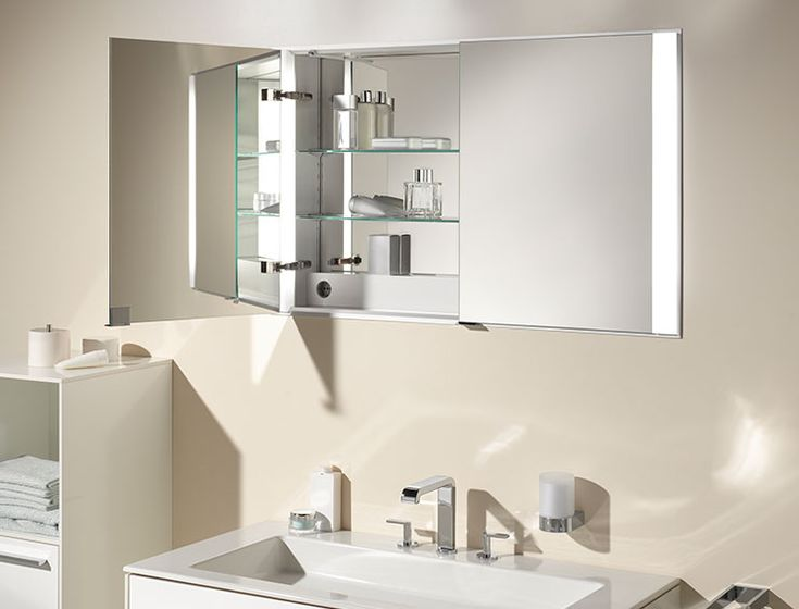 keuco mirror cabinets royal 60 fittings accessories mirror cabinets bathroom furniture and washbasins - Bathroom Cabinets Keuco