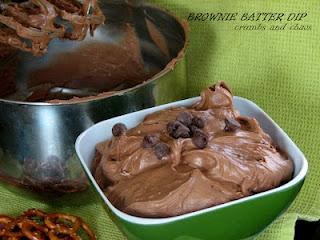 brownie batter dip...yummm: Desserts, Brown Sugar, Brownie Batter Dip, Brownies Dips, Cream Cheese, Recipes, Graham Crackers, Pretzels, Brownies Batter Dips