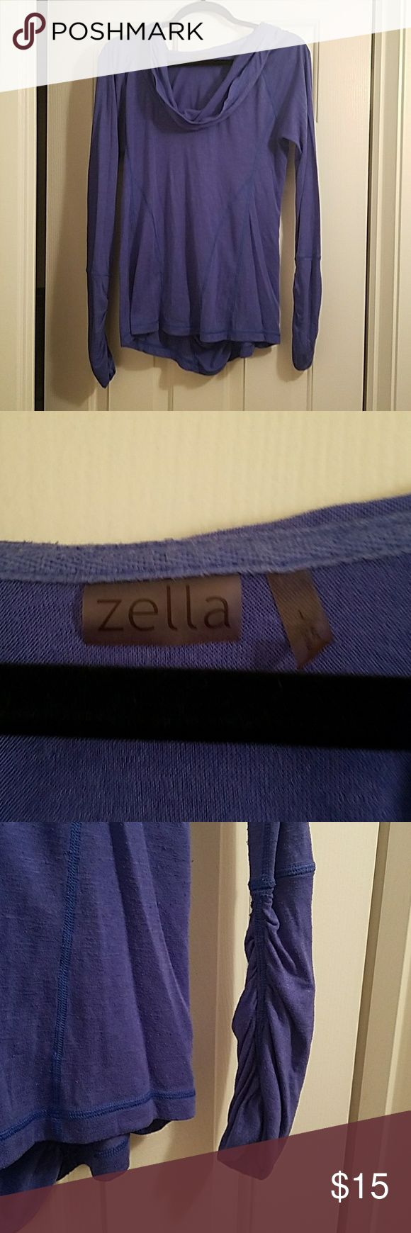 Zella Pull Over Sweater Long Sleeve, thumb holes at end of