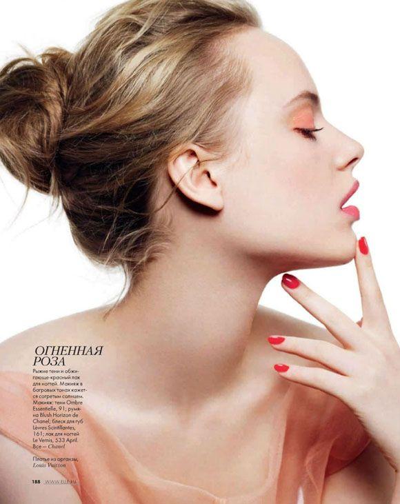 Luize Salmgrieze for #ElleRussia  Magazine: Elle Russia, Photographer: Shoky Van der Horst  Featuring: Luize Salmgrieze  Stylist: Nathalie Croquet  #Makeup: Gaelle March  Hair: Patrice Delaroche