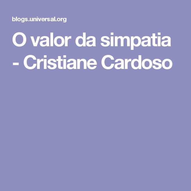O valor da simpatia - Cristiane Cardoso