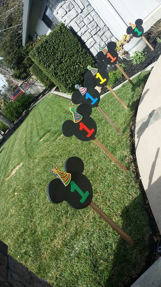 Mickey Mouse Clubhouse Birthday DIY Decorations