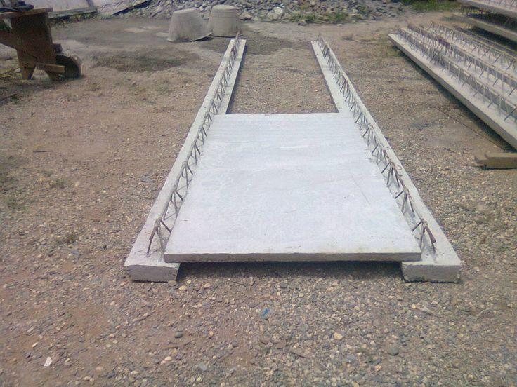 Nervios y losa de concreto decorativas para la - Como colocar adoquines de hormigon ...