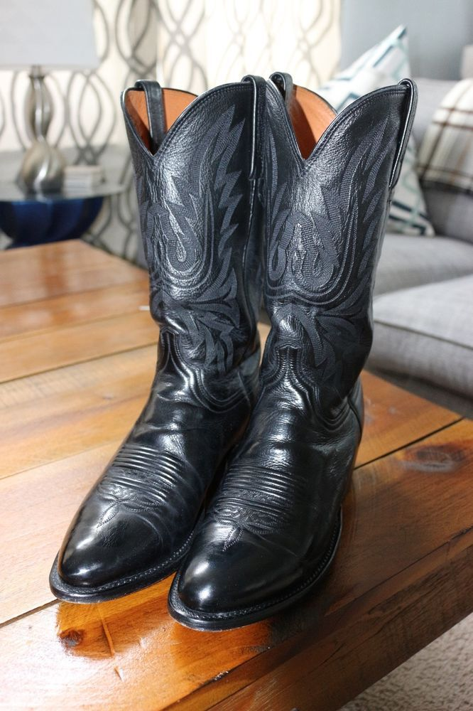 d783ac4d9cf Lucchese Mens Carson Western Boot Black 9D #fashion #clothing #shoes ...