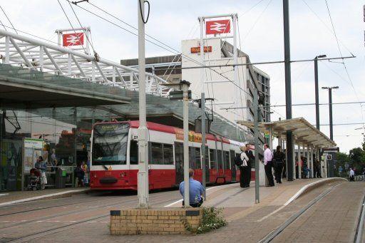 Croydon Tramlink tram stop at East Croydon