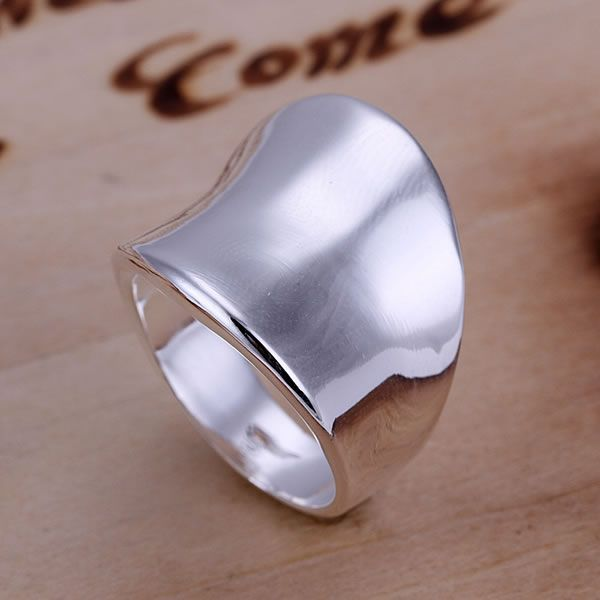 R052  Fine silver plated wholesale jewelrys,Hot sale Factory price charm free shipping 925 fashion Thumb Ring-Opened /acca #Affiliate