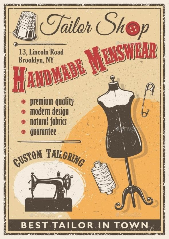 Tailor Shop Poster #AD #Tailor, #Ad, #Shop, #Poster (With ...